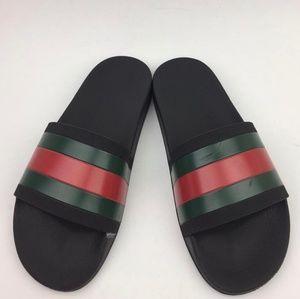 GUCCI Pursuit Rubber Slide Sandal sz 9